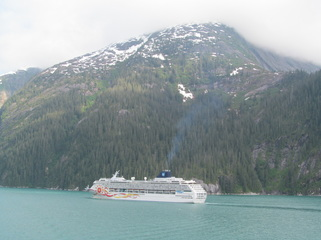 Norwegian Sun in Tracy Arm Fjord