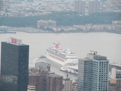 Carnival Splendor Departing New York City