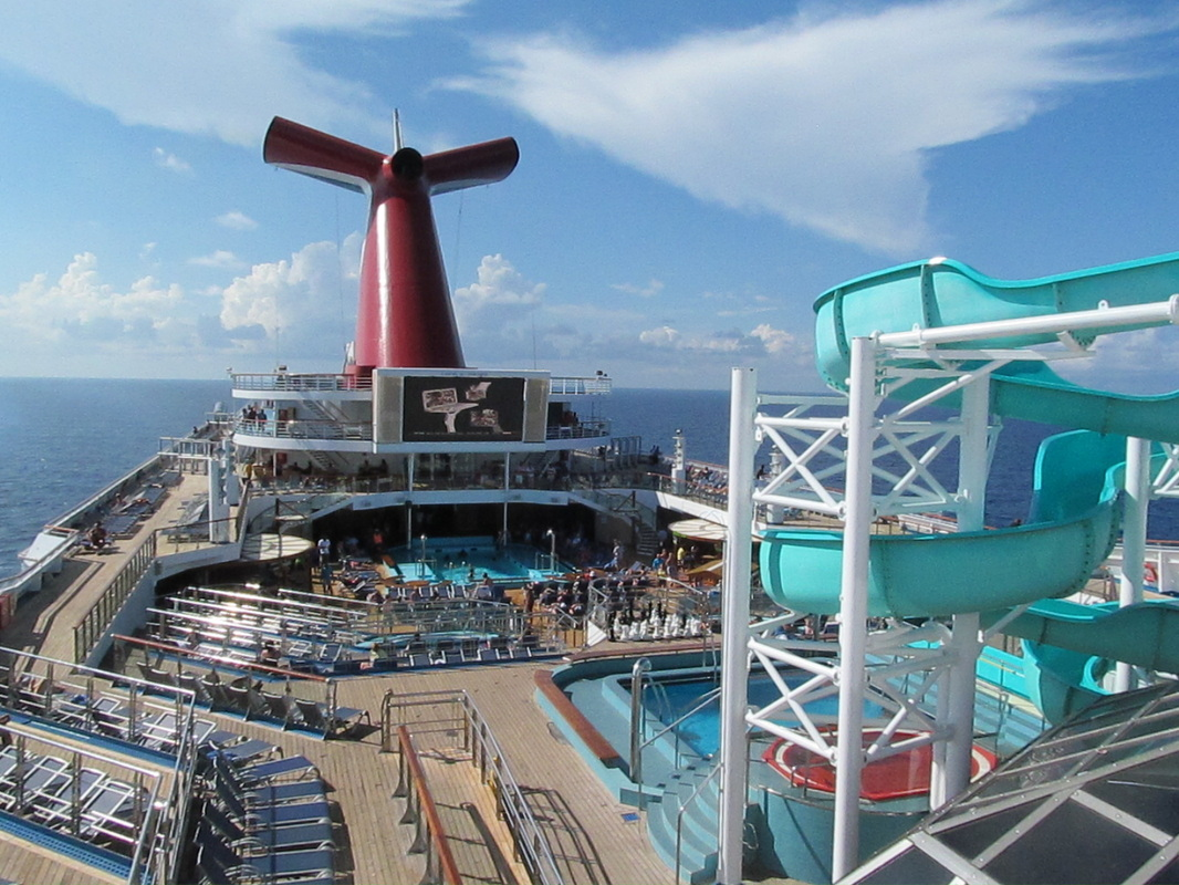 Looking Down at Lido Deck