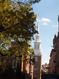 Another view of The Old North Church from Freedom Trail