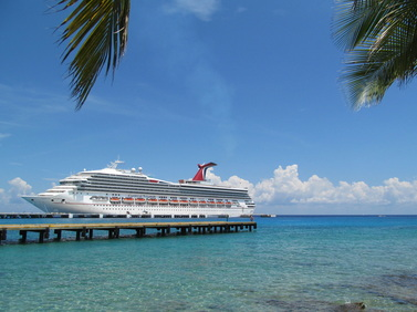 Carnival Trumph Docked in Cozumel, Mexico