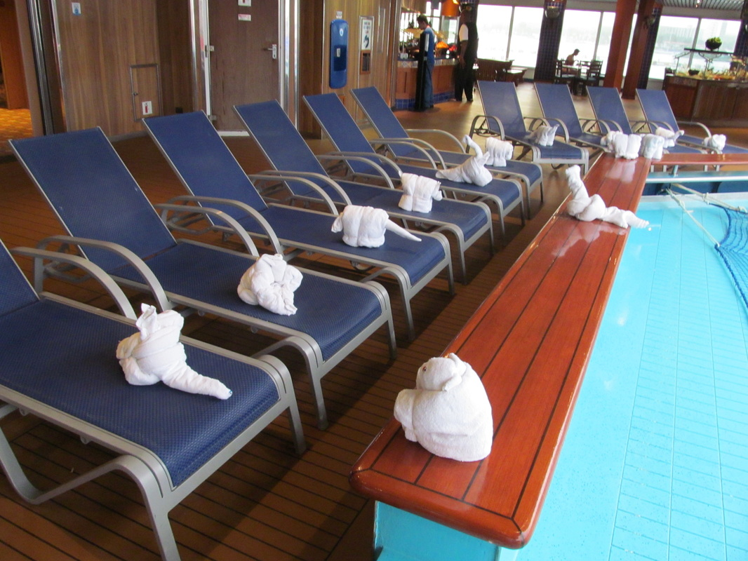 Carnival Triumph Towel Animals By Pool