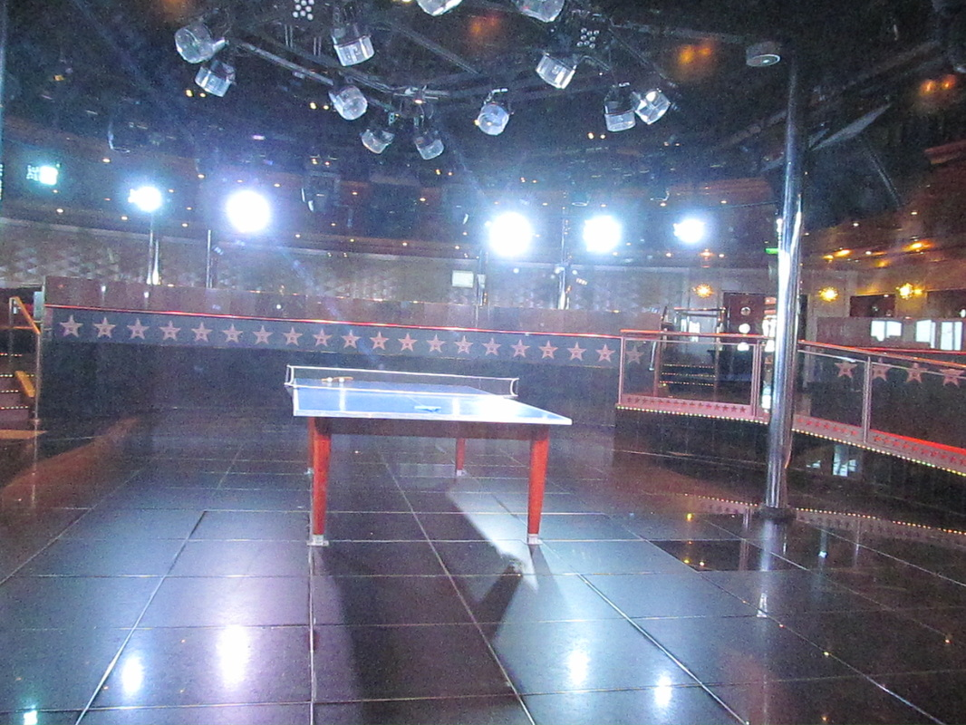Ping Pong Table in Hollywood Dance Club