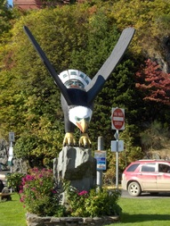 Eagle Totem Pole in Ketchikan