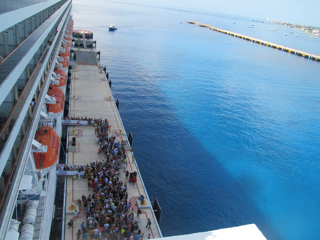 People Waiting To Reboard Cruise Ship