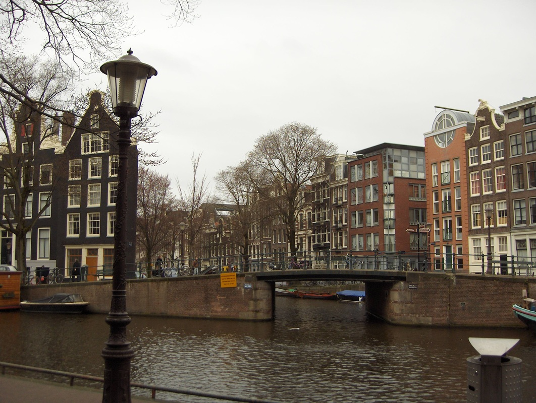 Prinsengracht (canal) on which Anne Frank House is located