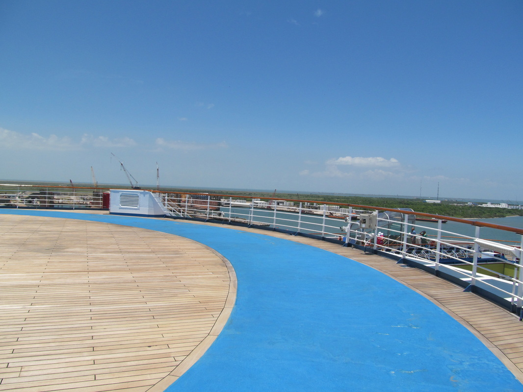 Starboard view of Jogging track