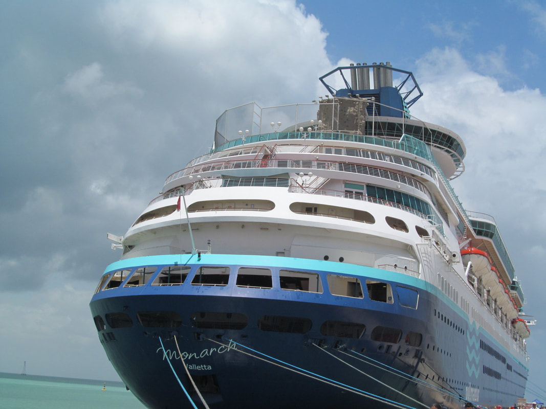 Pullmantur Monarch Cruise Ship Back