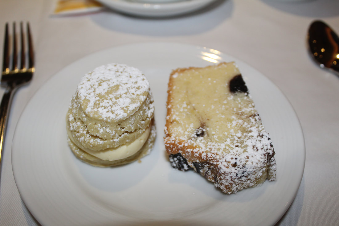 Carnival Freedom Scone & Blueberry Cake