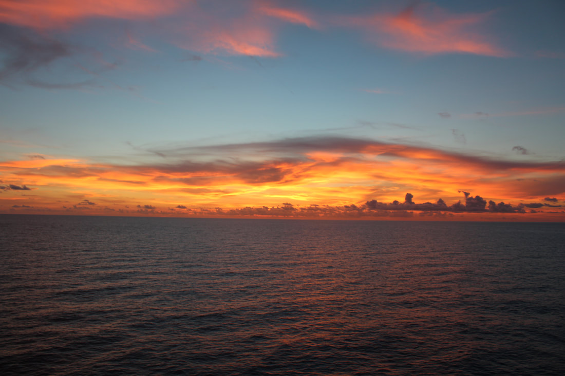 Sunset From The Carnival Freedom