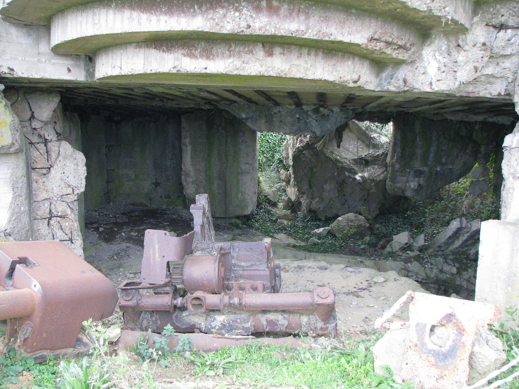 Inside two of the bunkers