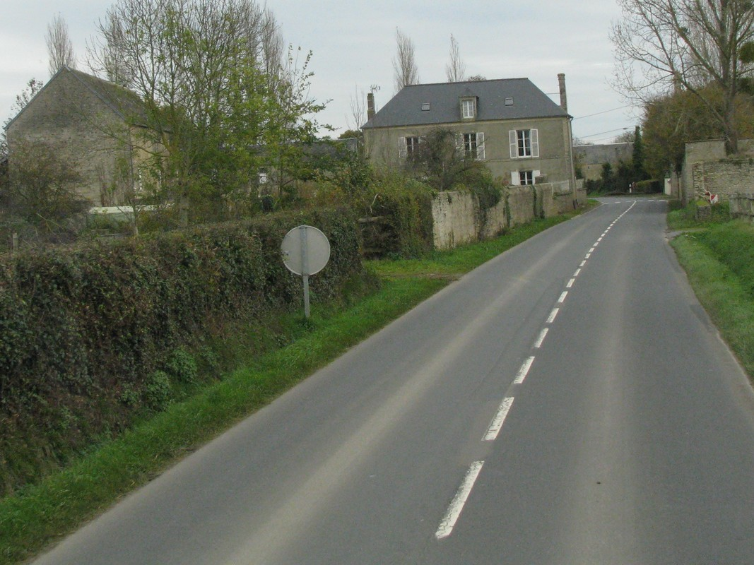 Narrow roads on way to Normandy beaches