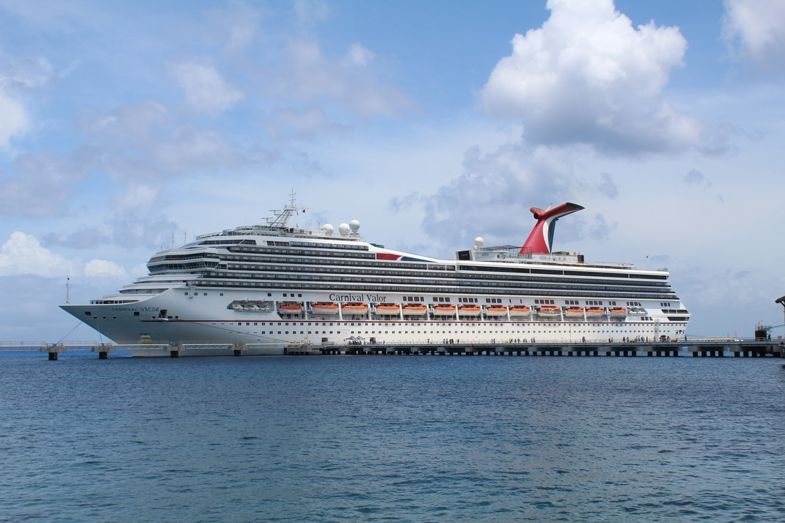 Carnival Valor Docked In Cozumel