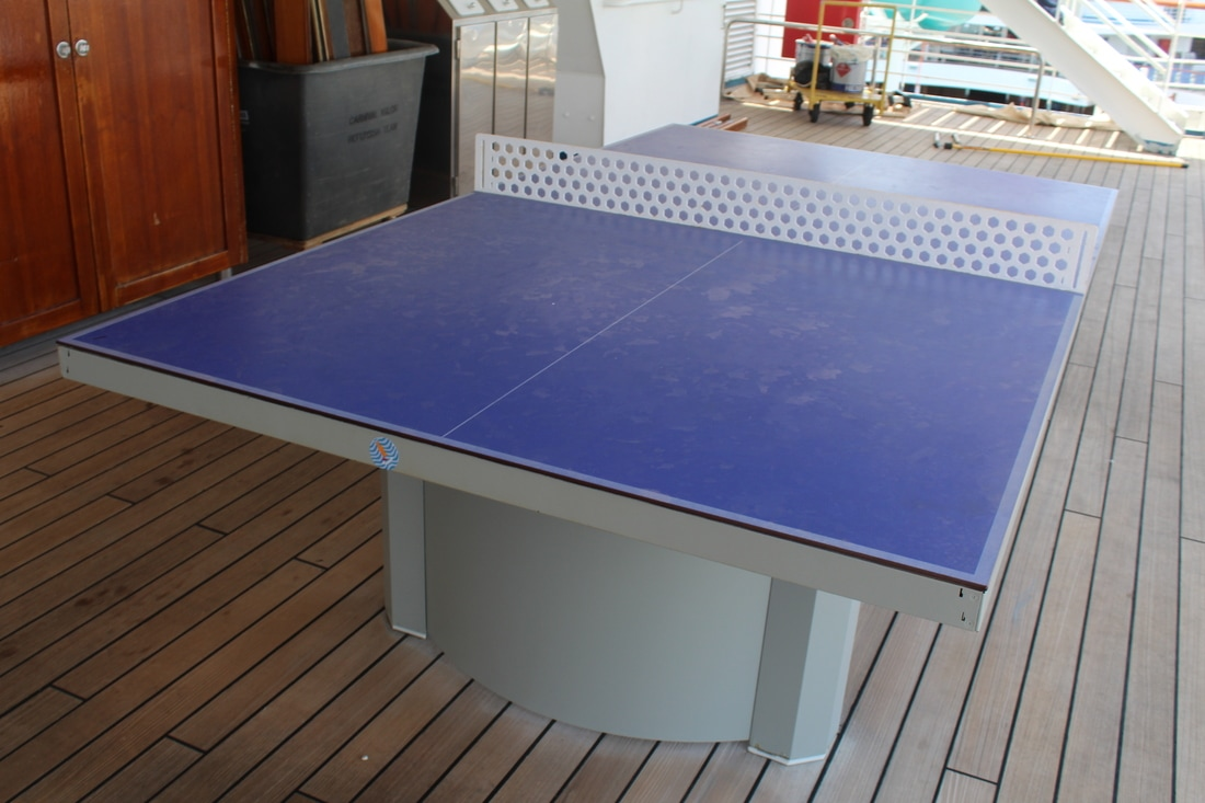 Carnival Valor Ping Pong Tables