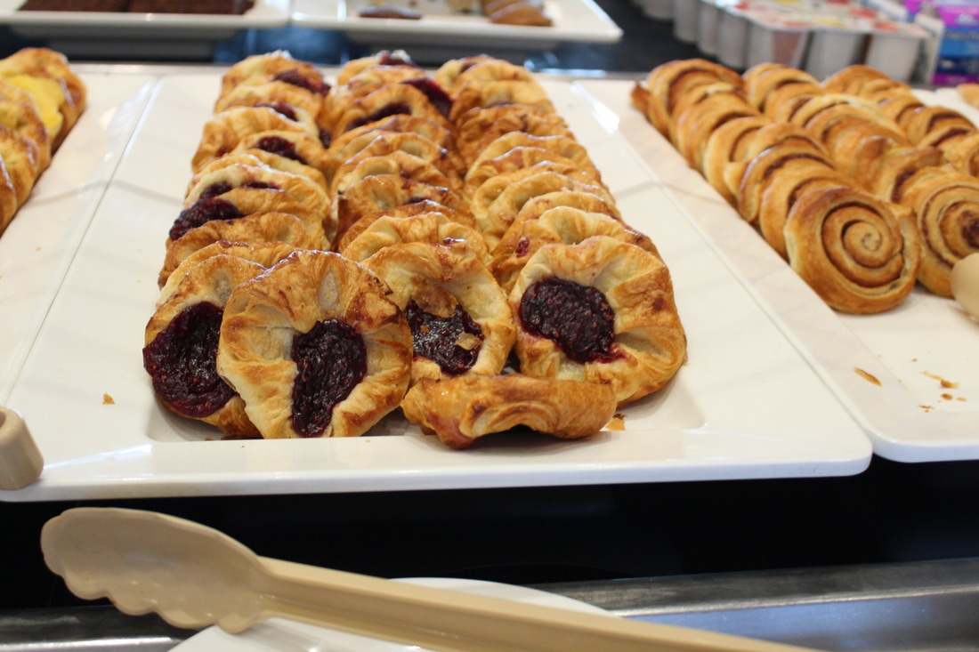 Carnival Valor Continental Breakfast - Pastries