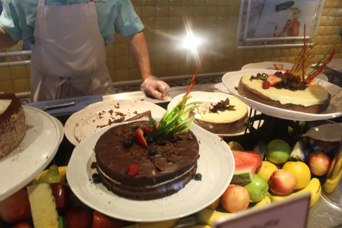 Carnival Valor Chocolate Extravaganza Buffet Line