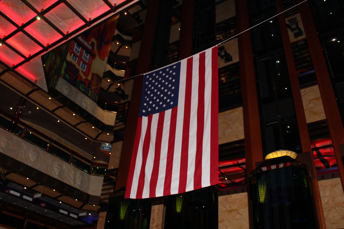 Carnival Valor Flag In The Atrium