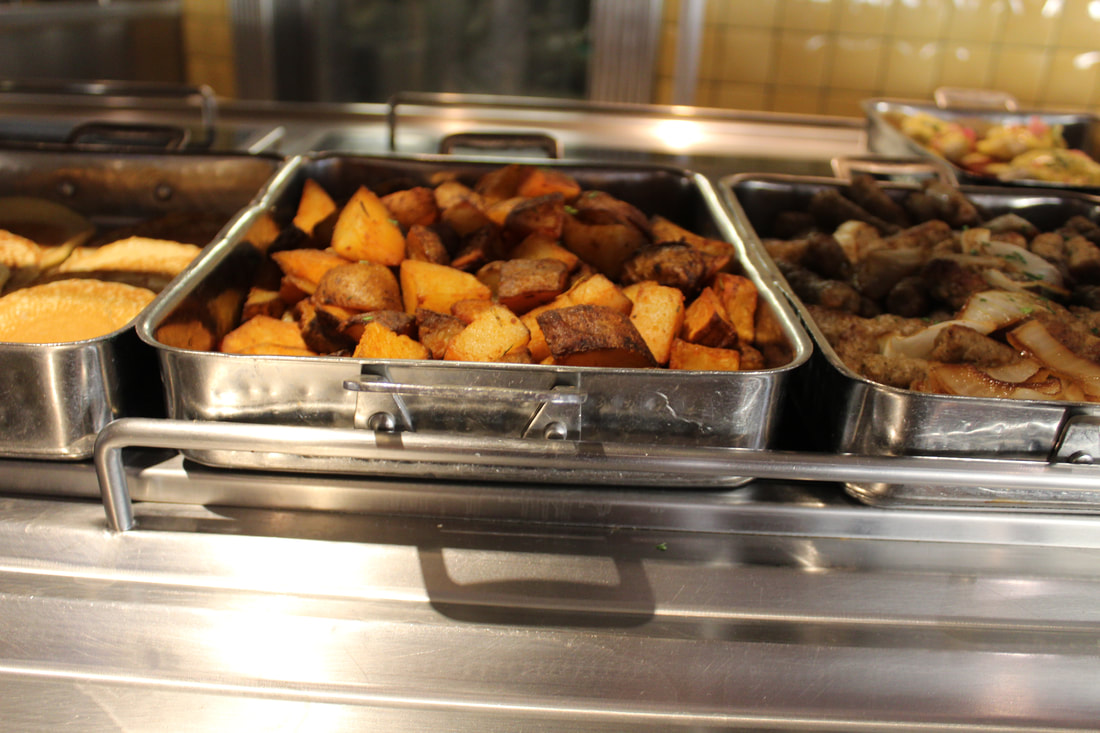 Carnival Valor Main Breakfast Buffet Line