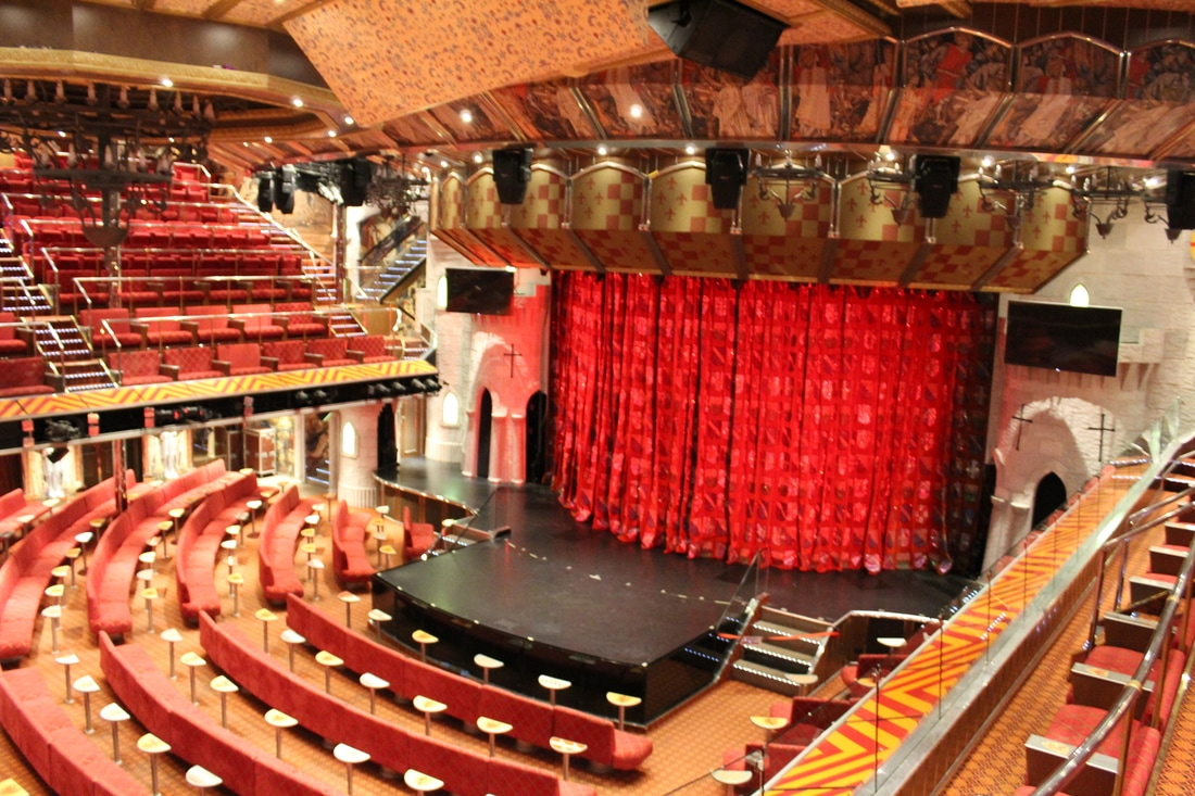 Carnival Valor Ivanhoe Theater Deck 4 Level