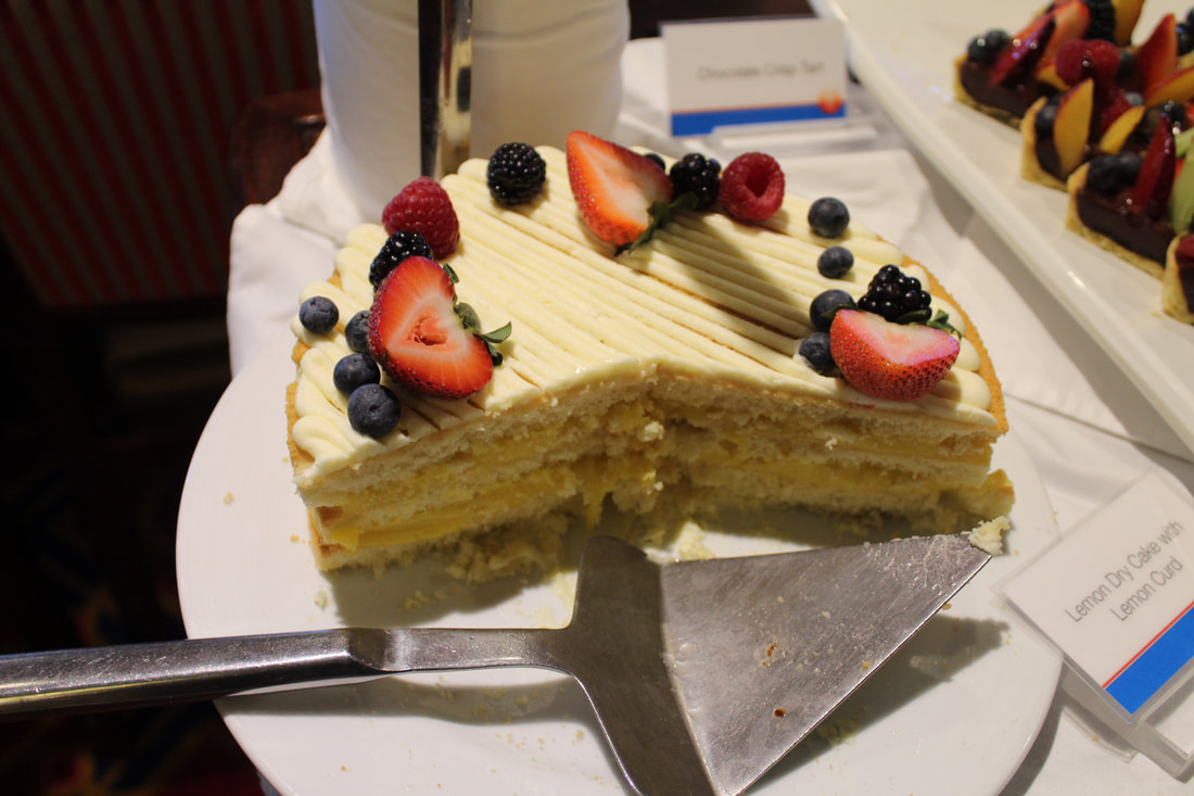 Carnival Valor Tea Time Lemon Dry Cake