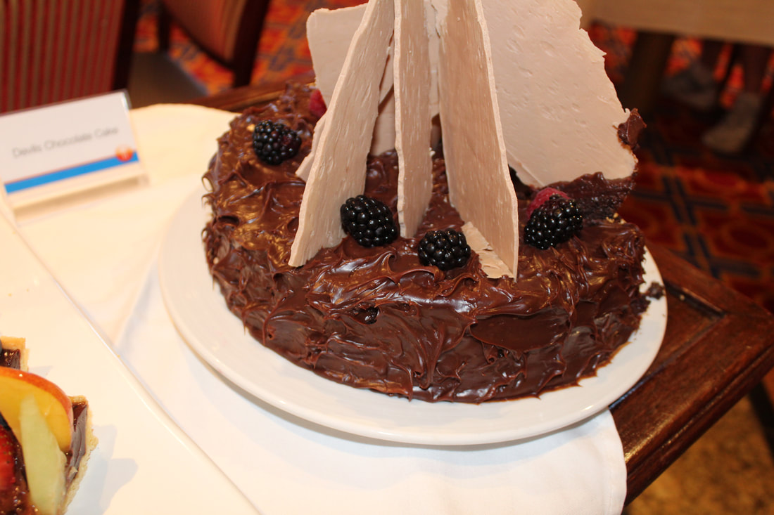 Carnival Cruise Tea Time Devils Chocolate Cake
