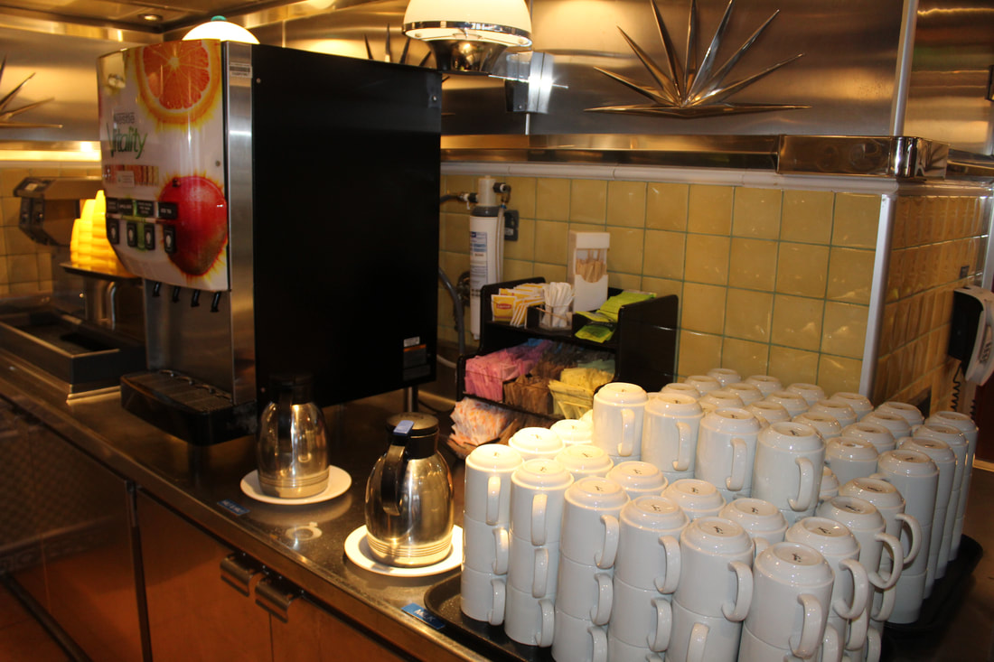 Carnival Valor Buffet Drink Station