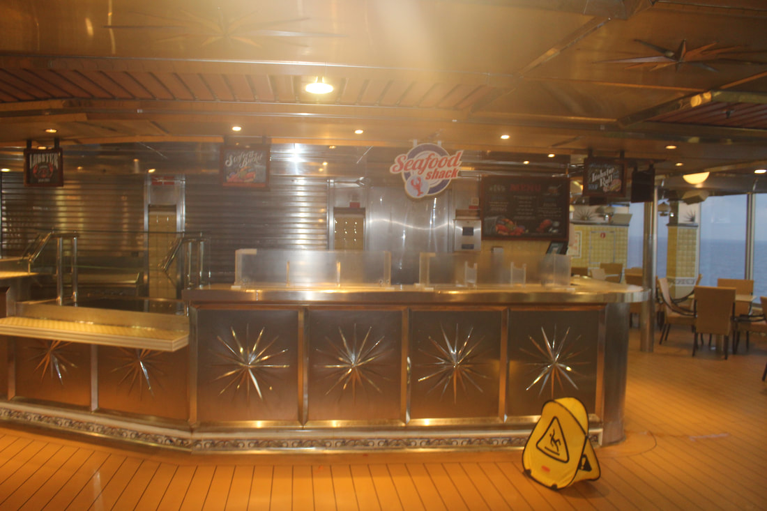 Carnival Valor Seafood Shack Counter