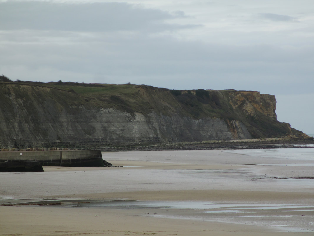 Bluffs as seen from village of Arromanches