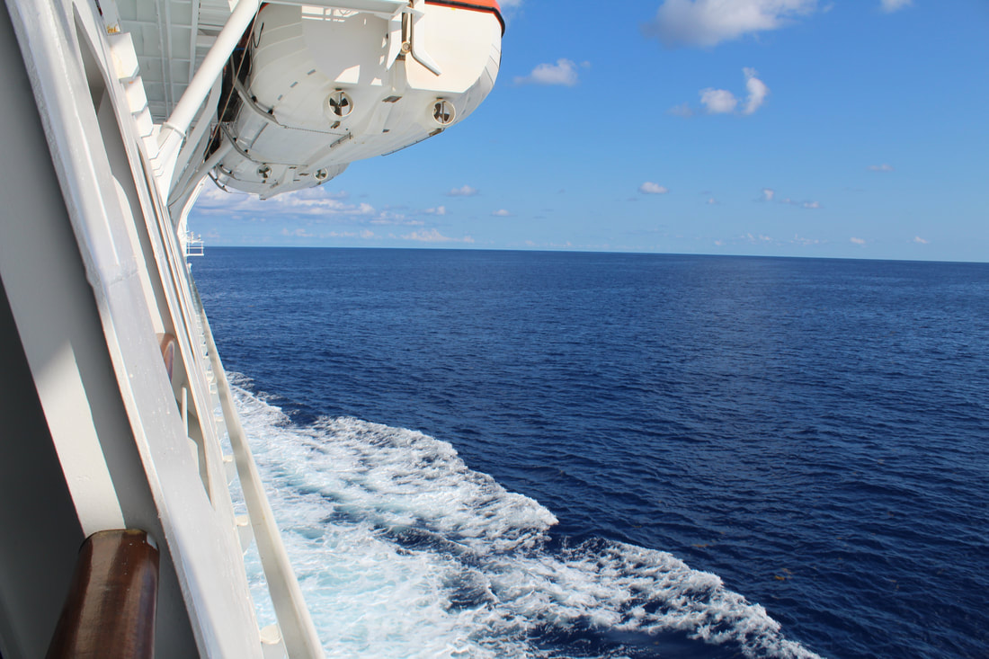 Green Lift in Galveston Being Used On Carnival Vista