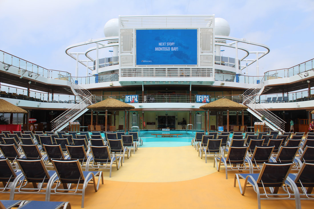 Carnival Vista Main Lido Pool and SeaSide Theater