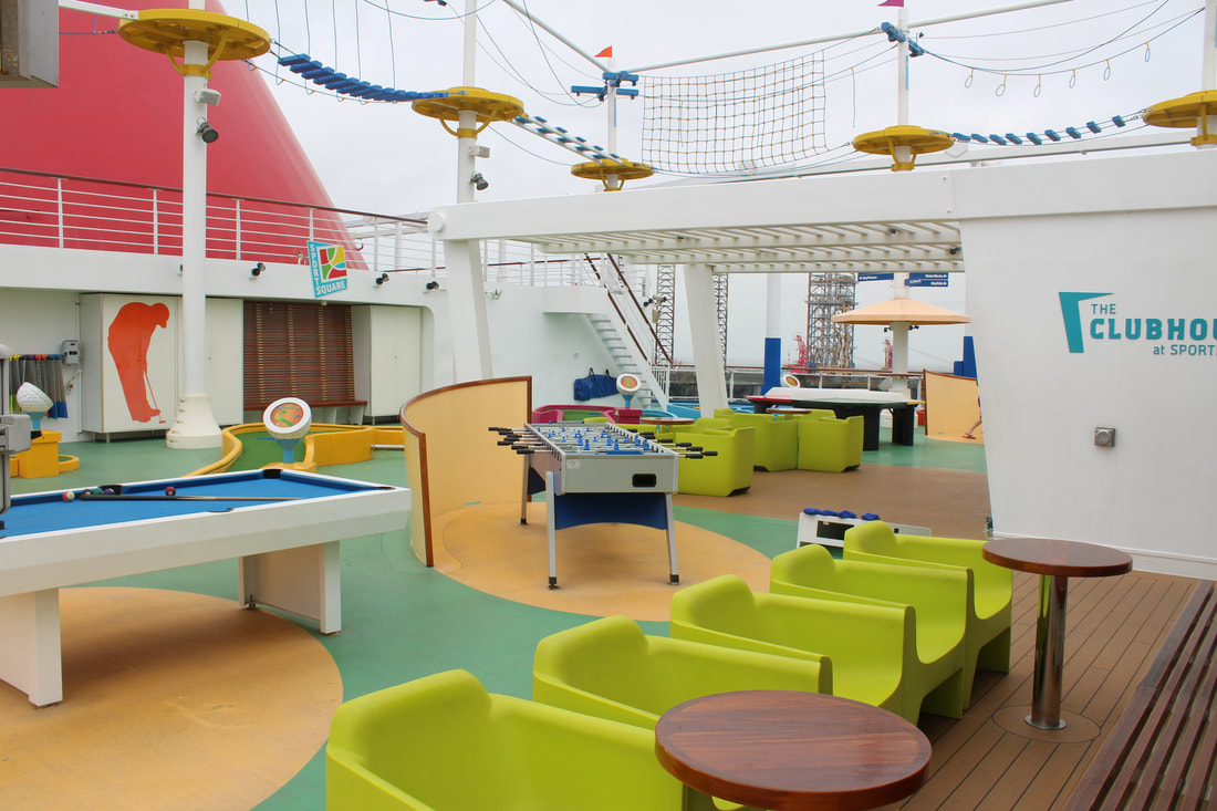 Carnival Vista Mini Golf Course and Outside Games Tables