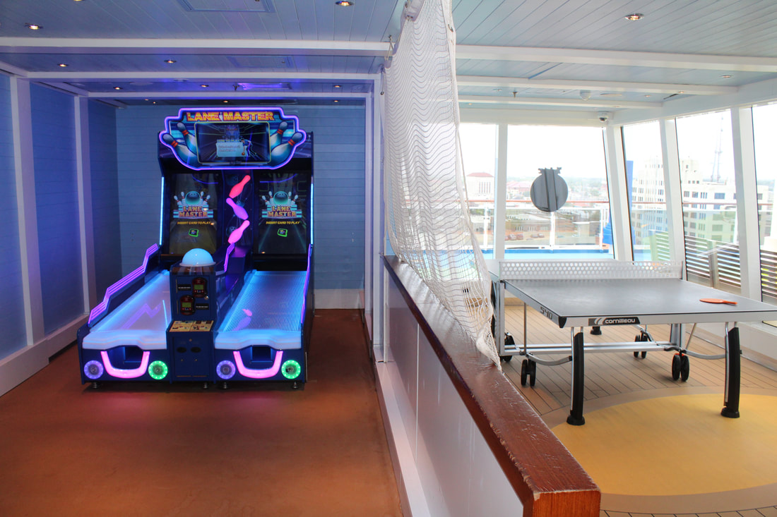 Carnival Vista Bowling Alley