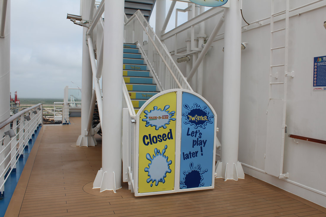 Carnival Vista WaterWorks Stairs Entrance