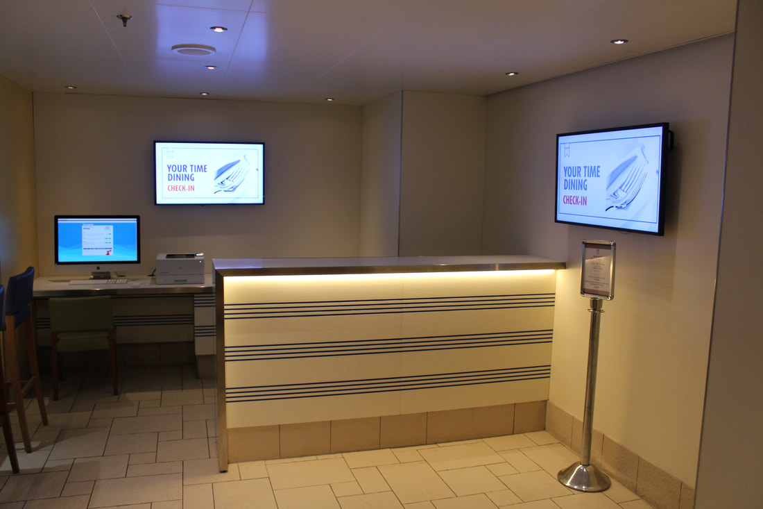 Carnival Vista Your-Time Dining Check In Desk