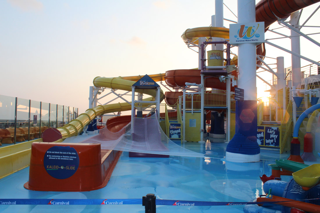Carnival Vista WaterWorks Waterslides and Splashpad