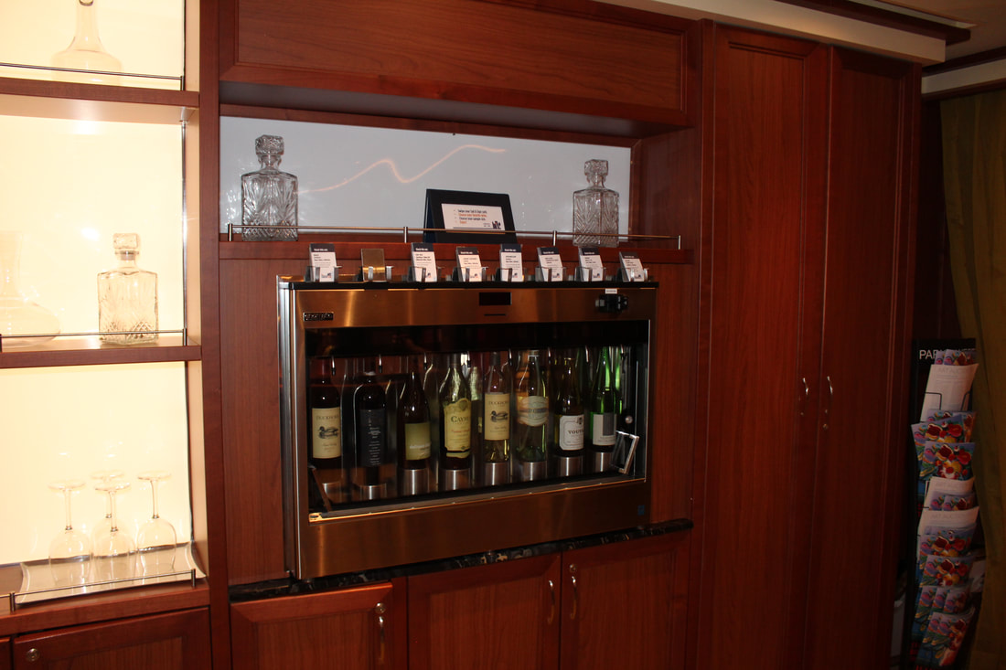 Carnival Vista Library Bar Self-Service Wine Dispenser