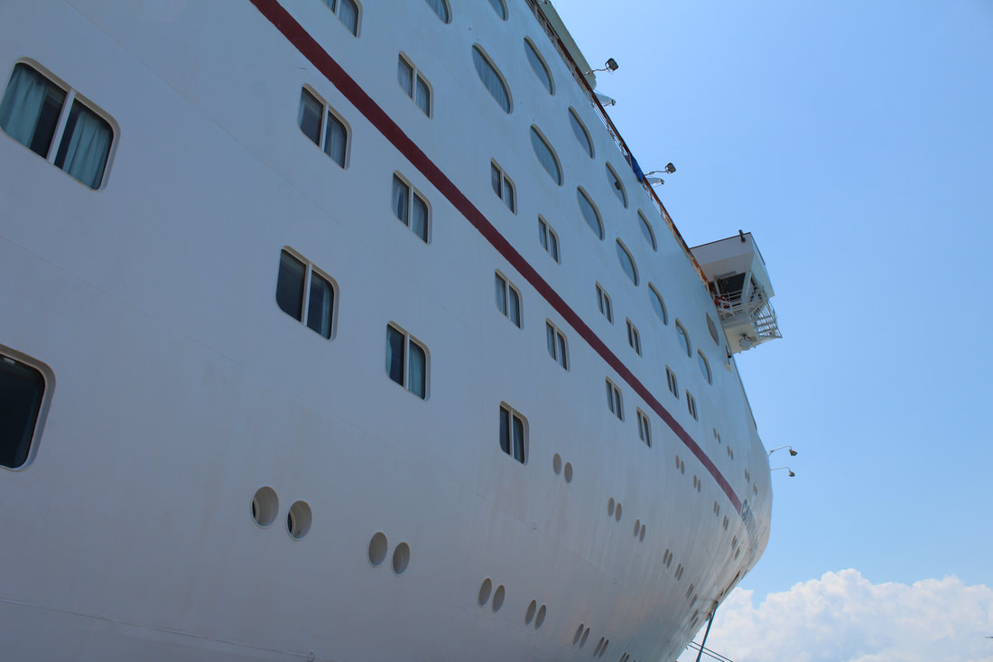 Carnival Triumph Waterslide & Pool At Night