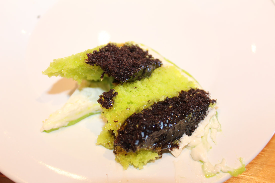 Carnival Vista Green Tea Checkers Cake