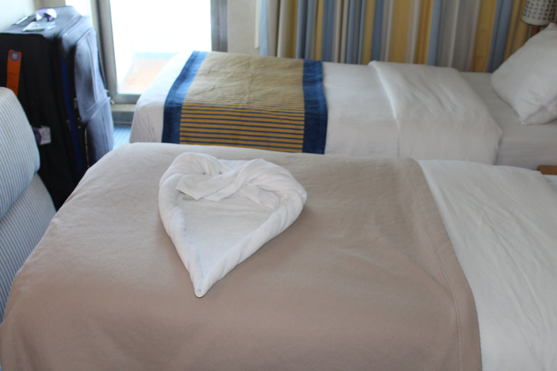 Carnival Vista Towel Heart
