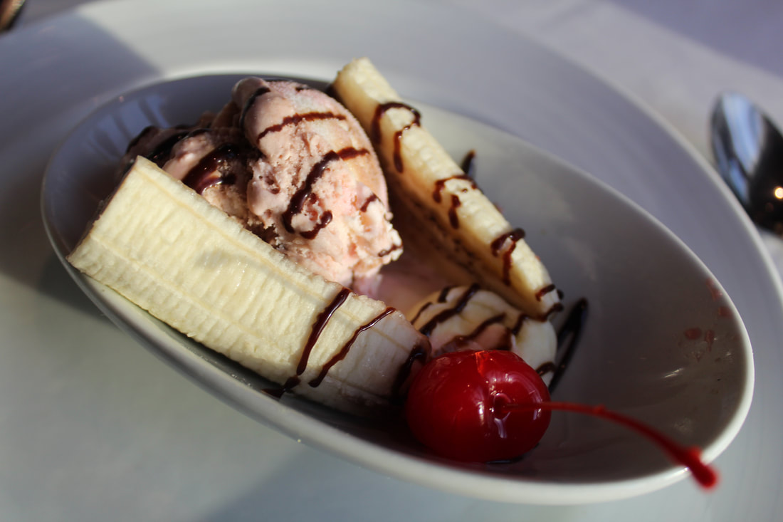Carnival Vista Kid's Menu Banana Split For Dinner
