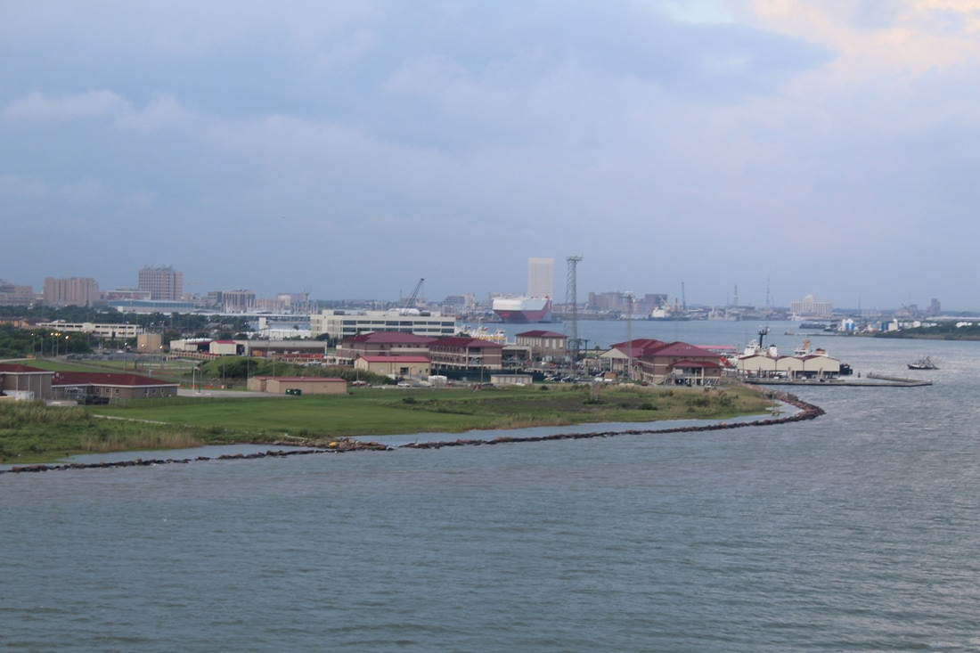 Sailing Into Galveston