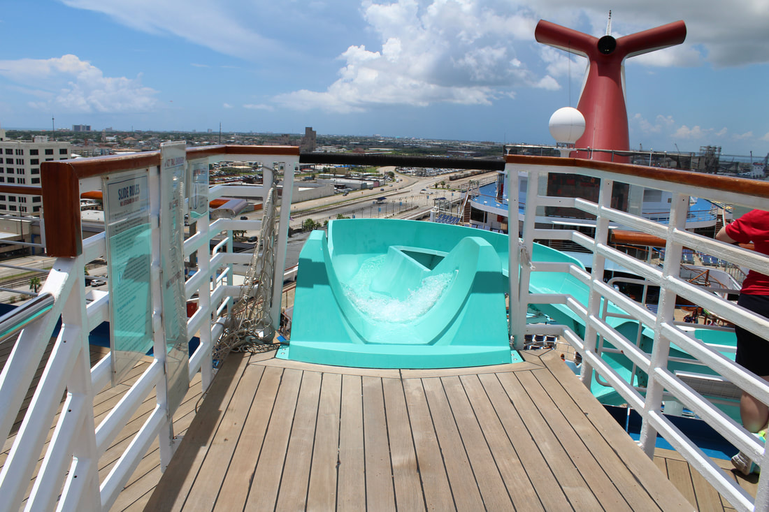Carnival Freedom Waterslide Entrance