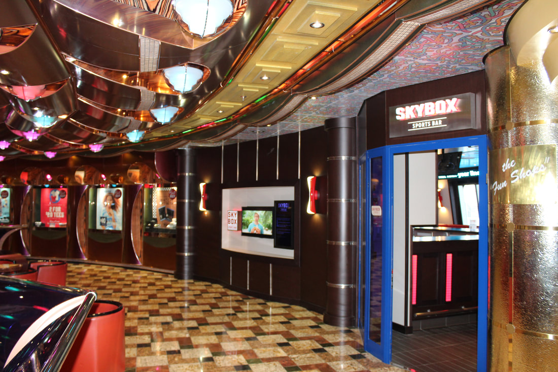 Carnival Freedom Skybox Sports Bar Entrance