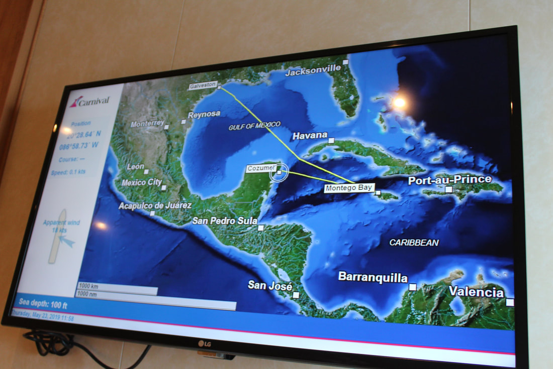 Carnival Vista Stateroom TV Showing Map