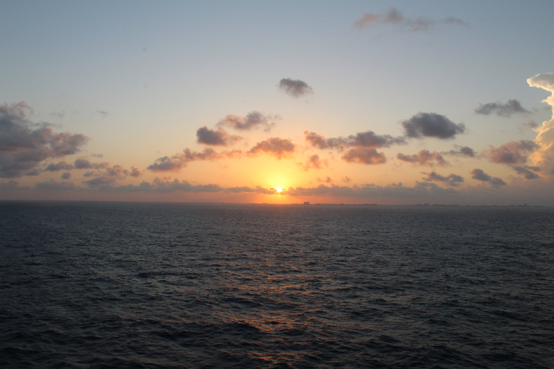 View Of The Sunset From The Carnival Vista