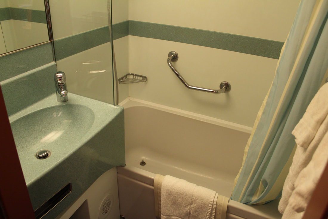 Carnival Dream Deluxe Ocean View Stateroom Bathtub
