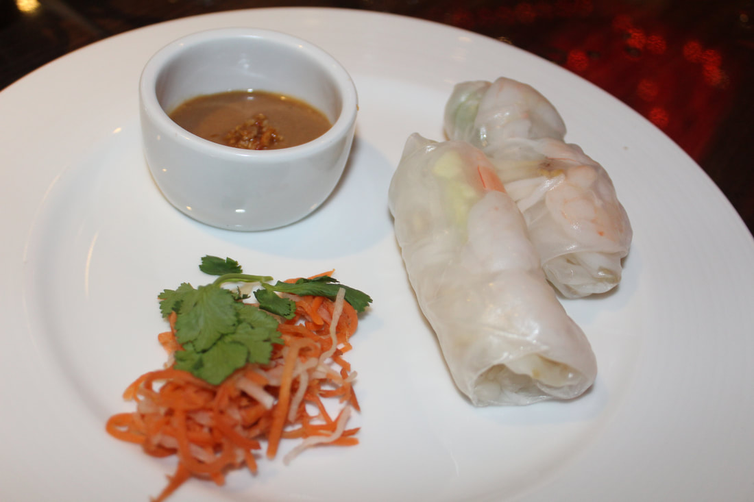 Carnival Dream Dining Room Chilled Vietnamese Roll