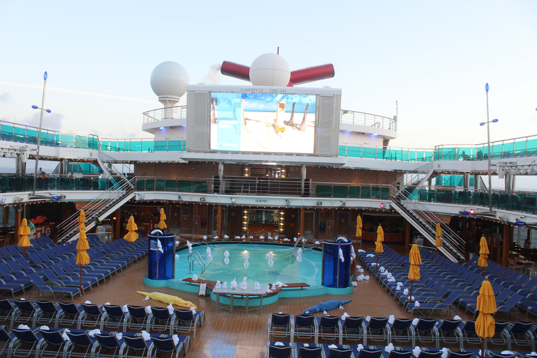 Lido Deck Main Pool Area - Towel Animals