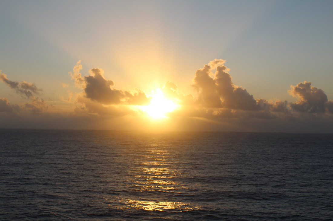View Of The Sunrise From The Carnival Dream