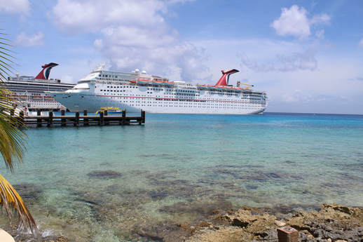 Carnival Valor and Carnival Fantasy in Cozumel